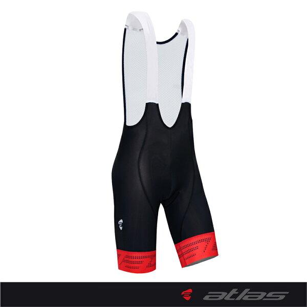 Atlas 亞特力士 【點陣系列】男款五分吊帶車褲 HJ-8010-1(五代/紅) 24℃~30℃