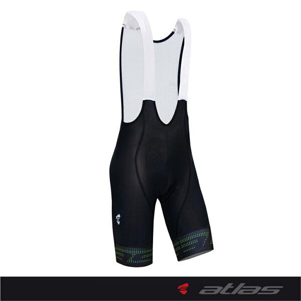Atlas 亞特力士 【點陣系列】男款五分吊帶車褲 HJ-8010(五代/綠) 24℃~30℃