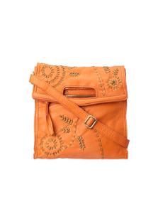 Lucky Brand Savannah Fold Over Stitch Spice Orange Bag 女精品包