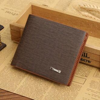 【瞎買天堂x細緻樹紋】時尚商務風格 極品樹紋 款式新穎 質感柔軟 皮夾 短夾 錢包【CBAA0106】 0