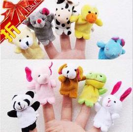 風靡日韓雙層動物手指偶 手偶 玩具 10個一套