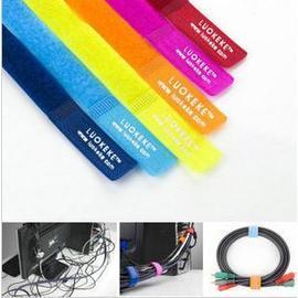 《團購》彩色時尚理線帶 綁線帶捆紮線帶電線整理魔術貼(6條/卡)(團購價:10卡/團)