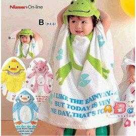兒童浴巾寶寶毛巾料卡通動物造型浴巾嬰兒洗澡浴衣浴袍游泳沙灘巾-7701007