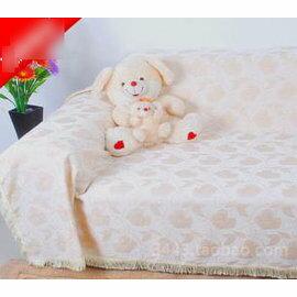 【雪尼爾全蓋布藝沙發巾雙人座180x230cm白棉花】 皮沙發套沙發罩沙發布 定做 加厚防滑-7101008