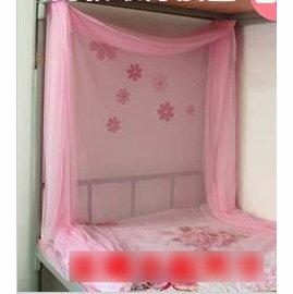【學生蚊帳1米(3.3英尺)】可伸縮 拉鍊 上下鋪加密 方頂單人床寢室宿舍用-7101011