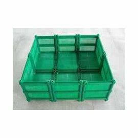 【種植箱-雙層六聯】深31cm 種菜塑膠花盆 有機環保中號花槽 90*96*37cm-5101001