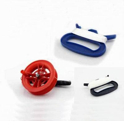 【風箏線軸-塑膠-紅線輪/黑手柄-2個/組】風箏手柄 濰坊風箏放飛工具已繞好線到手可用,兩款可選(可混搭)-30012