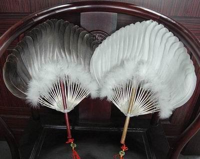 ~栽絨天鵝羽毛扇~實心木柄~天鵝鵝毛~36^~43~柄長10cm~1把 組~南京老字號高淳