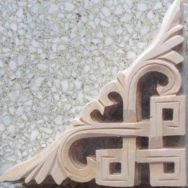 【木雕貼花-15-椴木白坯-兩款可選-1款/組】中西式裝修背景隔斷玄關屏風掛件仿古傢俱)-30105