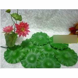 高模擬荷葉 荷花 高模擬塑膠 池塘水景 舞臺表演道具(不帶桿直徑13cm)~7901002