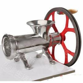 【絞肉機-手動-不銹鋼-32號】商用絞肉機 碎肉絞菜機 經久耐用可絞雞架(34*21,進料口徑14*16,出肉板孔徑4.5cm)-8001004
