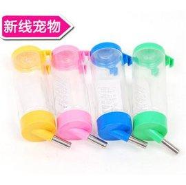 【飲水器-自動-塑膠-450ml-2個/組】寵物狗狗貓飲水頭 懸掛式 可掛籠子水瓶 顏色隨機,450ml,2個/組-79011