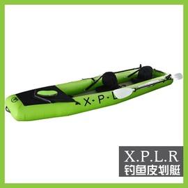 【釣魚皮划艇-BT88866T-基本款+電動馬達-365*90cm-1套/組】載人數2人 樂划 雙人3.65米豪華獨木舟橡皮艇(拉絲充氣墊底)-76033