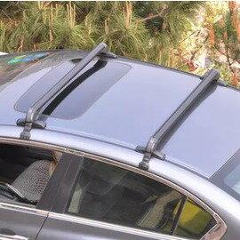【通用車頂架橫杆-五種規格可選-2根/套-1套/組】安裝于縱向雨槽 鋁合金汽車行李架橫杆 通用型帶鎖車頂架橫杆 自行車架載重行李架-7682038
