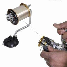 【魚線輪上線器-高16*寬12.5cm-吸盤直徑6.5cm-1套/組】漁輪卷線器 釣魚輪纏線器繞線器 釣具裝備配套真空吸盤-76017