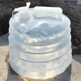 【PE折疊儲水桶-10L-直徑27*高20cm-2個/組】水袋水箱水具 便攜式食品級塑膠 野營自駕釣魚用品-76007