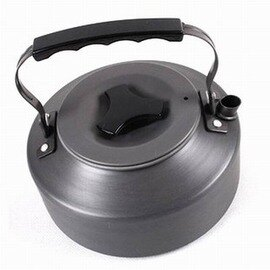 【戶外茶壺水壺-1.1L-鋁合金+硬氧化-14*6cm-1套/組】便攜式咖啡壺燒水壺野營自駕釣魚用品-76007