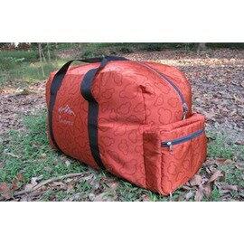 【手提式裝備袋-45L-420D滌綸-主倉54*33*25-副袋26*18*7cm-1個/組】帶折疊收納功能 自駕遊旅行袋手提袋大容量45升裝備袋-76012
