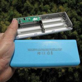 【免焊接移動電源-單獨組裝套件-14.8*6.2*2.2cm-2套/組】可拆卸DIY套料套件 安裝5節18650電池充電寶(不含電池,充電器)-76012
