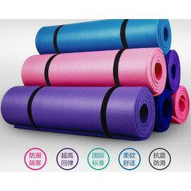 【瑜珈墊-慢生活-厚10mm-3件套-NBR-183*61cm-1套/組】瑜伽墊 防滑瑜珈墊 健身毯子(3件套 : 墊+扣(繩)+包)-56008