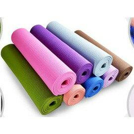 【瑜珈墊-慢生活-厚8mm-3件套-PVC-173(183)*61cm-1套/組】瑜伽墊 防滑瑜珈墊 健身毯子(3件套 : 墊+扣(繩)+包)-56008