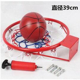 【籃球框-兒童休閒款-39cm-鋼材+噴塑-1套/組】標準籃球框 兒童籃框 壁掛式籃框 (送打氣筒+3色籃網+4個膨脹螺絲)-56007