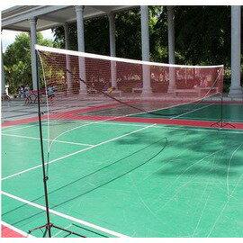 【可?式多功能網架-3.1米學生型-鋁管+尼龍球網-3.1*1.55米-1套/組】折疊標準羽毛球網 移動 送吸汗帶穩定鉤-56007