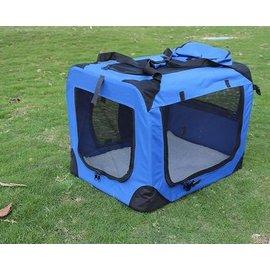 【寵物蚊帳篷-可折疊可拆洗-鋼管支架+防水牛津布-L-70*52*52cm】可拆洗狗窩 狗籠 折疊後僅8cm厚-79014