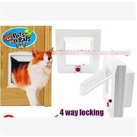 【寵物門-塑膠-15*15cm】貓門 小狗門 4種方式設置,外23.3*24*8cm 內門15*15cm-79014