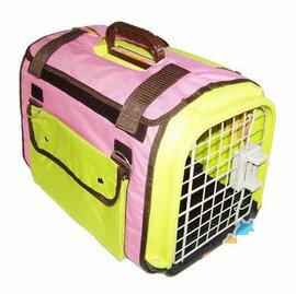 【航空箱-F-412528】兔子龍貓天竺鼠 高級外帶包 手提籠旅行袋(F=單籠+冰袋+飲水器+3kg木屑)-79023