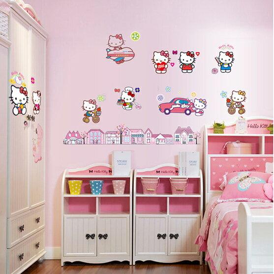 Decor.H 卡通無痕壁貼 不傷牆面 展覽 布置 創意 DIY 裝潢 兒童 房間裝飾 Hello Kitty 凱蒂貓