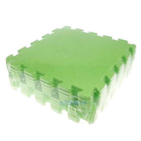 ~九元 ~淺綠色彩墊 10入 拼裝地墊 EVA 鋪地 拼板 ~  好康折扣
