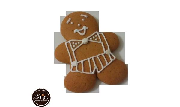 【裸餅乾Naked Cookies】薑餅人(白線條)6入-創意手工糖霜餅乾,婚禮小物/生日/活動/收涎/彌月