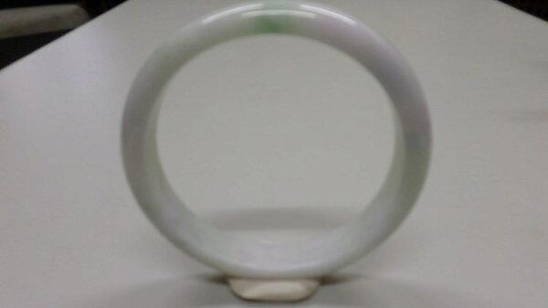 【翡翠淘寶坊】手環.玉鐲0001/春帶彩玉鐲 17.5圍 寬8mm