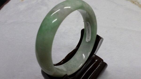 【翡翠淘寶坊】手環.玉鐲w2029/春帶彩  18.5圍  寬13mm