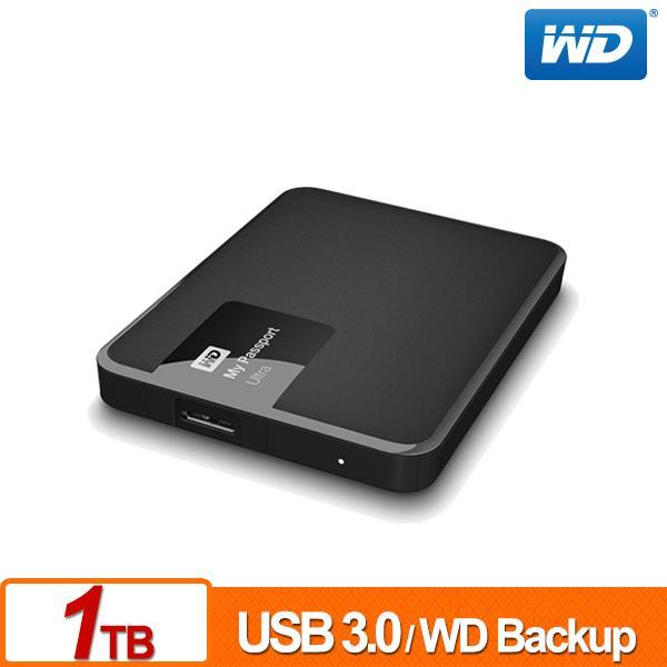 ★綠G能★全新★行動硬碟★WD My Passport Ultra 1TB(經典黑) USB 3.0 2.5吋行動硬碟
