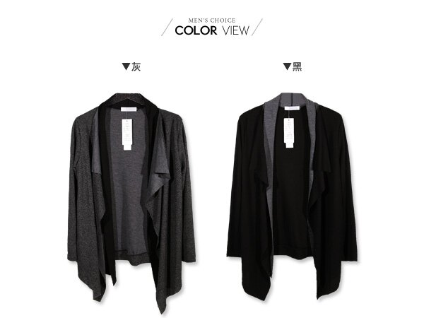 ☆BOY-2☆【NQ98039】韓版紳士假兩件針織外套 2