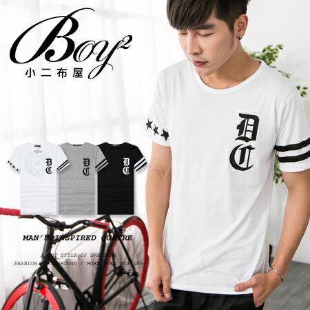 ☆BOY-2☆【PPK82073】短袖T恤韓風街頭印花條紋DC短T 1