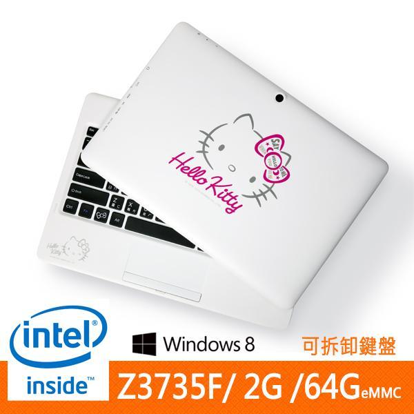 Logah Grace 10 Hello Kitty 2in1平板筆電限定版 多重優惠 加量不加價!!! 加碼→漫威行動電源x1漫威造型耳機x1●價值$1688