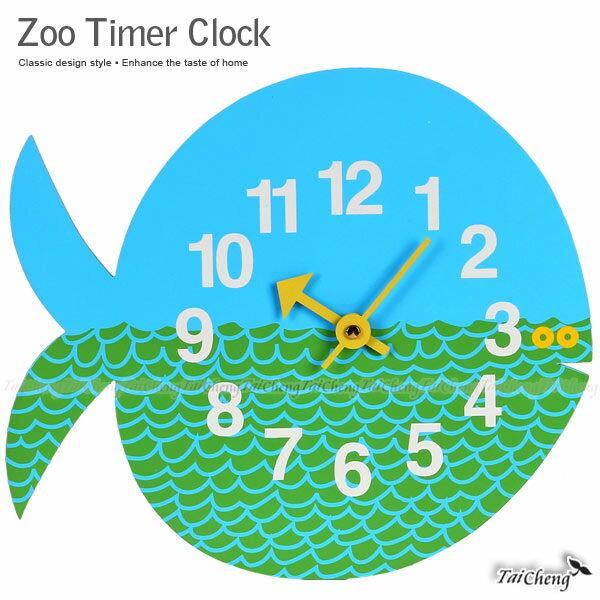 Zoo Timer Clock藝術鐘|牧野家-圓圓鯨魚壁鐘|日本牧野台灣製壁鐘造型鐘數字鐘北歐燈復古鐘 MAKINO