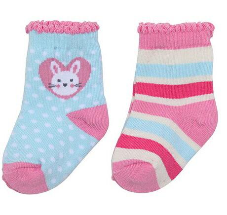 台灣【Baby City】兔兔短襪2入組 1