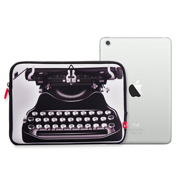 iPad2/3/4 & iPad Air 保護套.復古系列 (打字機)