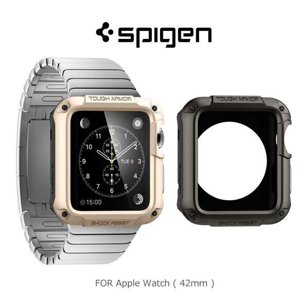 【愛瘋潮】Spigen Apple Watch (42mm) Tough Armor 防震保護殼