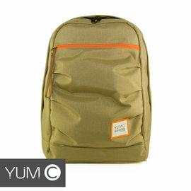 【風雅小舖】【美國Y.U.M.C. Haight城市系列Day Backpack經典筆電後背包 亮卡其】筆電包 可容納15.6寸筆電