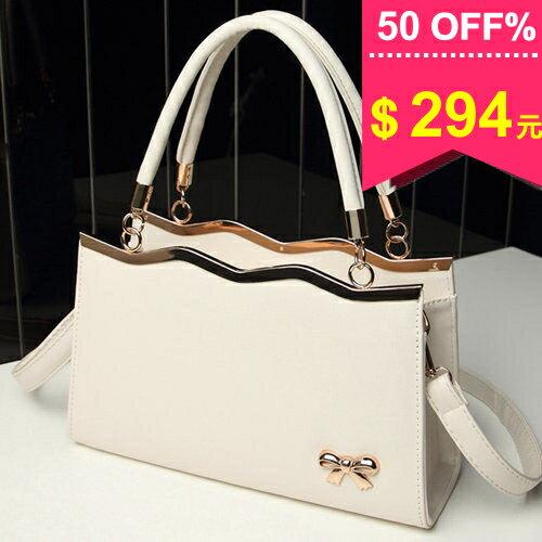 韓系金屬蝴蝶結質感金屬邊框手提包 斜背包 包飾衣院 P1277 現貨+預購