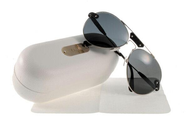 [Anson King]法國100%正品代購 CHLOE 克羅伊 好萊塢 時尚飛行復古皮革 CL2104系列 銀黑色 0