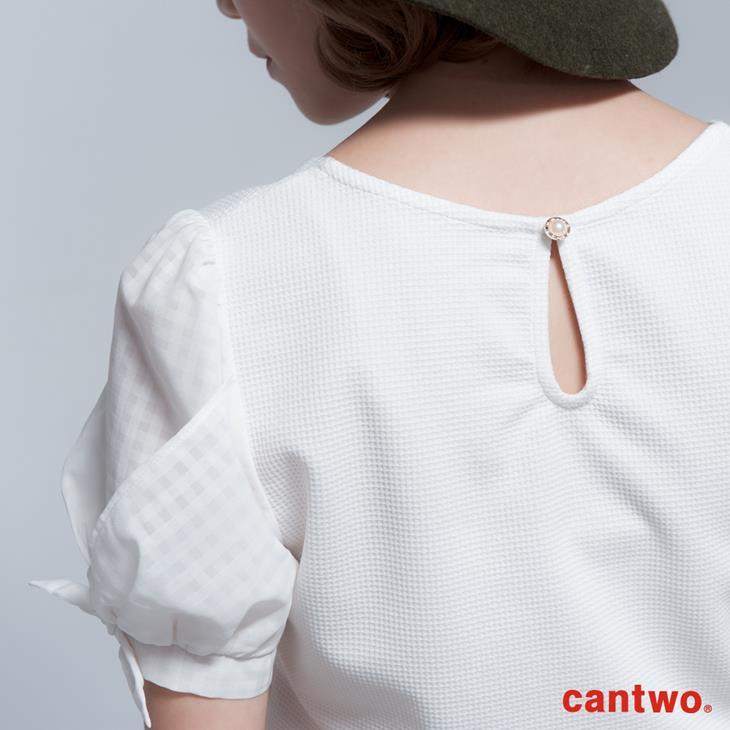 cantwo名媛風珠飾公主袖上衣(共三色) 5