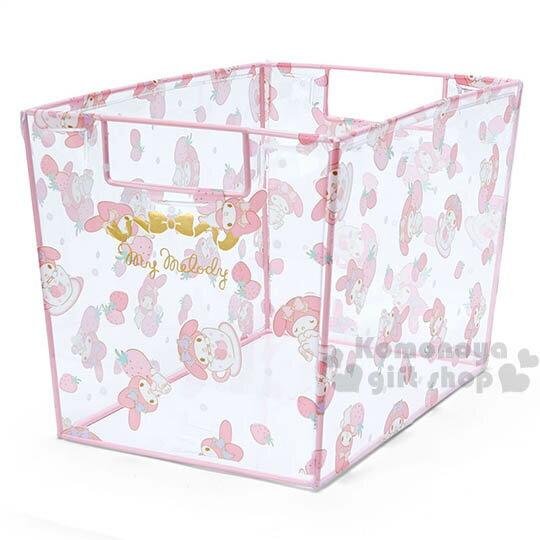 〔小禮堂〕美樂蒂 透明收納箱~小.多動作.草莓.杯子~
