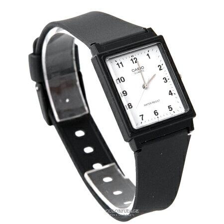 CASIO卡西歐 方形白面數字刻度設計透氣膠錶 輕巧中性款手錶 柒彩年代【NE1856】原廠公司貨 - 限時優惠好康折扣