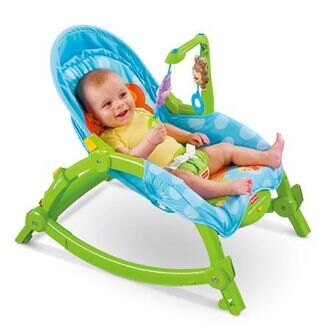 【愛寶媽咪】費雪 可攜兩用安撫躺椅